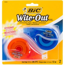 BIC EZ CORRECTION TAPE 2PK