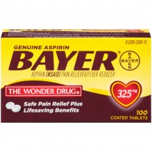 BAYER-100'S TABS 325GM