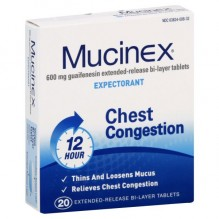 MUCINEX SE 20 CT 600 MG