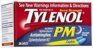 TYLENOL E/S PM CAPLETS 24 CT