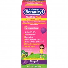 BENADRYL-D CHILD LIQ A/S 4OZ GR