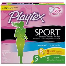 PLAYTEX SPORT 36CT MULTI-UNSC