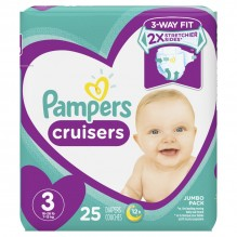 PAMPERS CRUISER SZE-3 JMBO 25CT