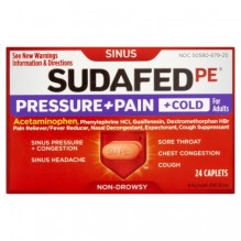 SUDAFED PRESSURE PAIN COLD 24S