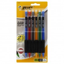 BIC PENCIL SOFT GRIP 6CT