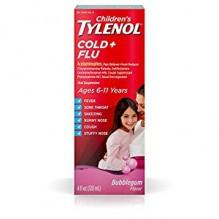 TYLENOL PLUS CHILD FLU BUBBG 4Z