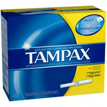 TAMPAX 40'S REGULAR FLUSHABLE