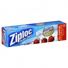 ZIPLOCK STORAGE BAGS 19CT GALLN