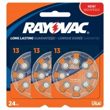 RAYOVAC H/A BATTERIES #13 24CT