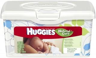 HUGGIE NAT CARE F/F WIPES 64CT