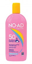 NO-AD SUNSCRN LOT SPF50 13Z BBY