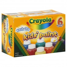 CRAYOLA WASH KID PAINT 6/2OZBTL