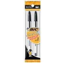 BIC/PEN MEDIUM POINT 2PK BLACK