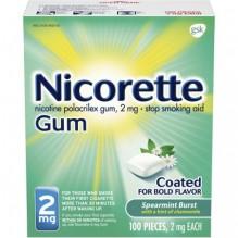 NICORETTE GUM 2MG 100CT SPERMNT