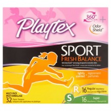 PLAYTEX SPORT 32CT FRESH RG/SUP