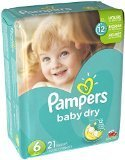 PAMPERS BABY DRY SZ6 JMBO 21CT