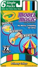 CRAYOLA 6CT/.5OZ MODEL MGC ASST