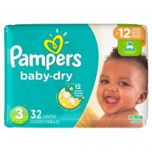 PAMPERS BABY DRY SZ3 JMBO 32C