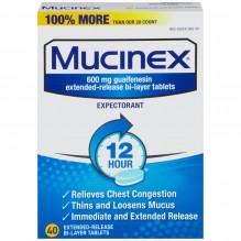 MUCINEX SE 40 CT