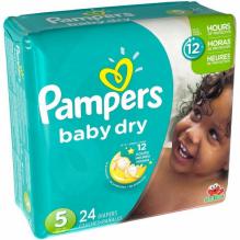 PAMPERS BABY DRY SZ5 JMBO 24C