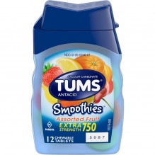 TUMS SMOOTHIE ASST FRUIT 12CT