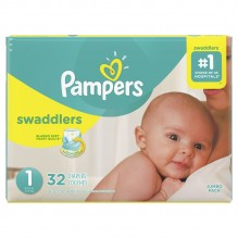 PAMPERS SWADDLER SZE 1 JMB 32CT