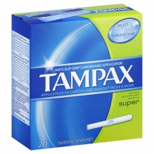 TAMPAX 20'S SUPER FLUSHABLE