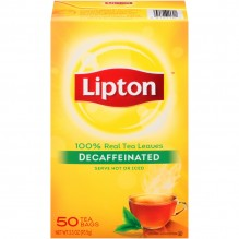 LIPTON TEA BAGS DECAF 50 CT