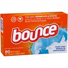 BOUNCE FRESH LINEN SCEN 80 CT