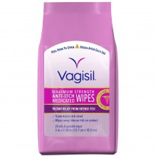 VAGISIL ITCH MEDICATED WIPE 20S