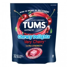 TUMS 32CT CHEW DELIGHT VRY CHRY