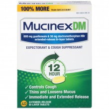 MUCINEX DM 40 CT