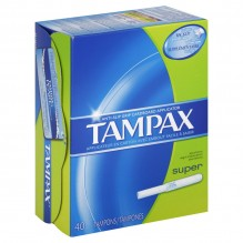 TAMPAX 40'S SUPER FLUSHABLE