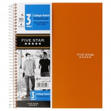 MEAD 5 STAR 3 SUBJECT NOTEBOOK
