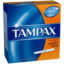 TAMPAX 20'S SUPER PLUS FLSHABLE