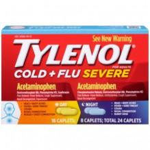 TYLENOL CLD&FLU SVRE DAY/NT 24C