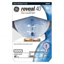 GE BULB 40W RV GLOBE CLEAR 1 CT