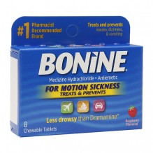BONINE CHEWABLE TABLETS 8'S