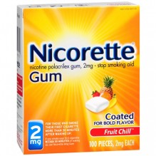 NICORETTE GUM FRUIT 100CT 2MG