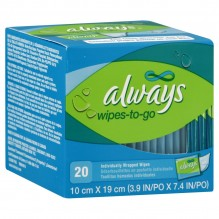 ALWAYS FEM CARE WIPES TO-GO 20