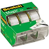 SCOTCH MAGIC TAPE 75X300 3PK
