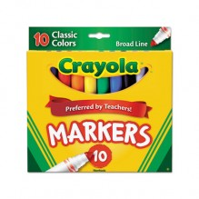 CRAYOLA CLASS CLR BROAD LN 10PK