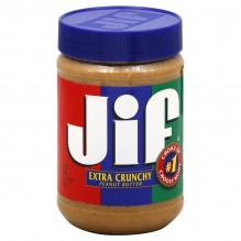 JIF CRUNCHY PEANY BUTTER 28 OZ