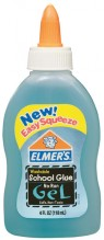 ELMERS NO RUN GLUE BLUE 4OZ#364