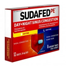 SUDAFED DAY/NIT CONG PE TAB 20S