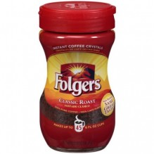FOLGERS INSTANT REG 3OZ COFFEE