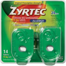 ZYRTEC 10MG TABS 14CT