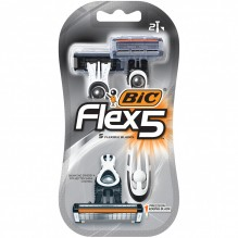 BIC SHAVR 2CT FLEX 5 MENS