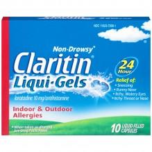 CLARITIN ALLGY LIQU-GEL 10CT