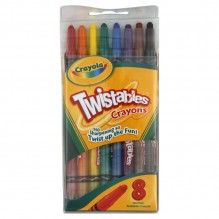 CRAYOLA 8CT TWISTABLE CRAYON